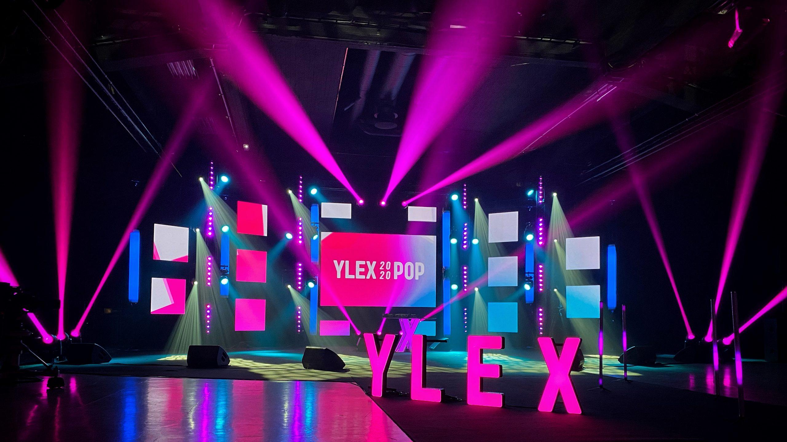 LED-screen televisio -toteutuksessa YleX Pop 2020 -festivaalissa