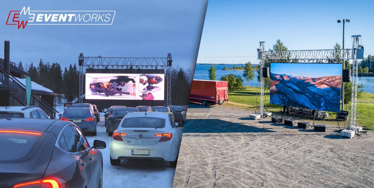 Drive-In elokuvatoteutuksia kesällä ja talvella